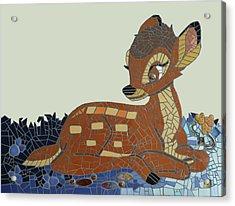The Kids Room Mosaic Acrylic Print by Adriana Zoon