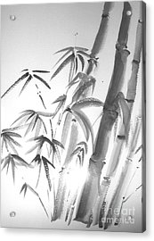 Acrylic Print featuring the painting Bamboo 2 by Sibby S