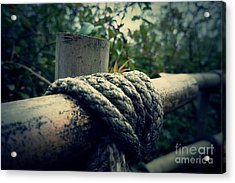Bamboo And Knotted Rope Acrylic Print by LozMac