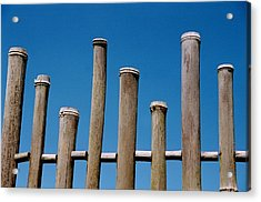 Bamboo Fence Acrylic Print by Spirit Vision Photography