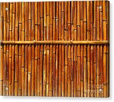 Bamboo Fence Acrylic Print by Yali Shi