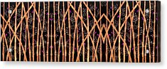 Bamboo Forest At Night Acrylic Print by Sumit Mehndiratta