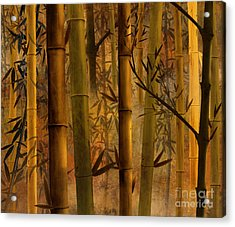 Bamboo Heaven Acrylic Print by Peter Awax