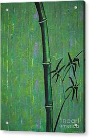 Acrylic Print featuring the painting Bamboo by Jacqueline Athmann