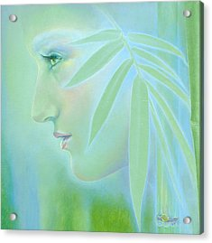 Acrylic Print featuring the painting Bamboo by Ragen Mendenhall