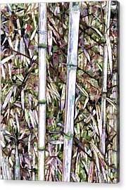 Acrylic Print featuring the painting Bamboo Stalks by Lanjee Chee
