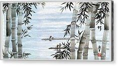 Bamboo Village Acrylic Print