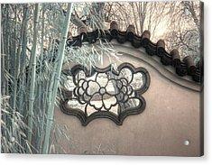 Bamboo Wall Chinese Garden Infrared Zen Acrylic Print