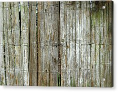 Bamboo Wood Fence Acrylic Print by Robert Hamm