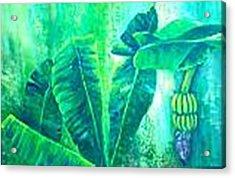 Banan Leaves 5 Acrylic Print by Carol P Kingsley