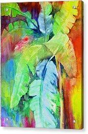 Banana Leaves Acrylic Print by Maritza Bermudez