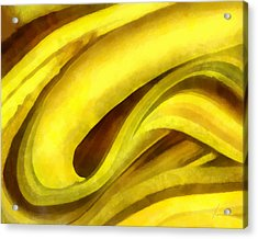 Banana With Chocolate Acrylic Print