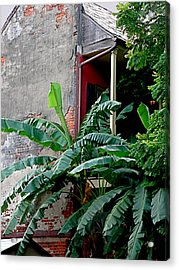 Bananas And Bricks Acrylic Print