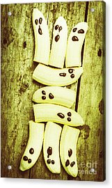 Bananas With Painted Chocolate Faces Acrylic Print by Jorgo Photography - Wall Art Gallery