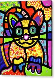Bandit The Lemur Cat Acrylic Print