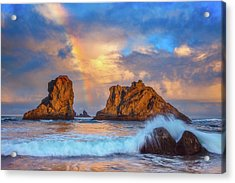 Bandon Rainbow Acrylic Print by Darren White