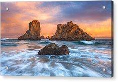 Bandon Sunrise Acrylic Print by Darren White