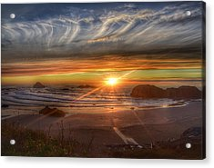 Acrylic Print featuring the photograph Bandon Sunset by Bonnie Bruno