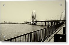 Bandra Worli Sea Link Acrylic Print by For me, photographs are a great medium to tell a story. Whe