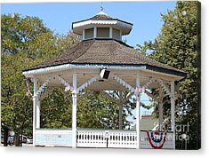 Bandshell In Plymouth, Mass Acrylic Print by Rod Jellison