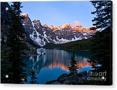 Banff - Moraine Lake Sunrise Acrylic Print