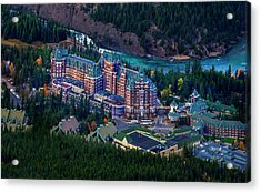 Acrylic Print featuring the photograph Banff Springs Hotel by John Poon