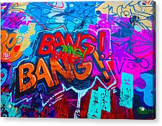 Bang Graffiti Nyc 2014 Acrylic Print by Joan Reese