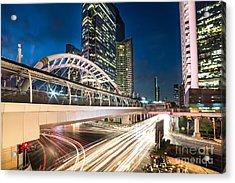 Bangkok Night Rush  Acrylic Print