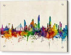 Bangkok Thailand Skyline Acrylic Print by Michael Tompsett