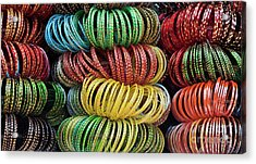 Acrylic Print featuring the photograph Bangles Of India by Tim Gainey