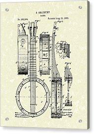 Banjo 1882 Patent Art Acrylic Print
