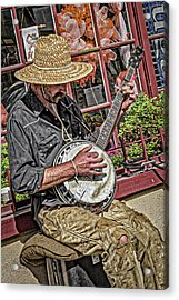 Banjo Man Orange Acrylic Print