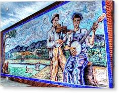Banjo Mural Acrylic Print by Dale R Carlson