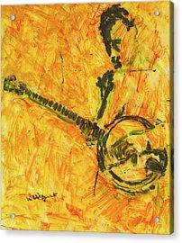 Banjo Player Acrylic Print by Richard Wynne