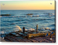 Bank Fishing Acrylic Print