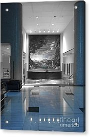 Bank Lobby Acrylic Print by Jenny Revitz Soper