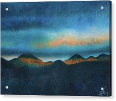 Bank Of Passing Clouds Acrylic Print by Robin Street-Morris