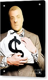 Bank Robber Making A Getaway Acrylic Print by Jorgo Photography - Wall Art Gallery