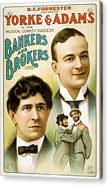 Bankers And Brokers Acrylic Print by David Letts