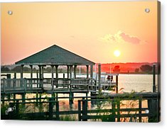 Acrylic Print featuring the photograph Banks Channel Sunset by Phil Mancuso