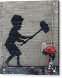 Banksy In New York Acrylic Print