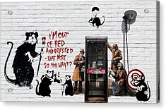 Banksy - The Tribute - Rats Acrylic Print