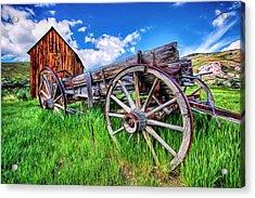 Bannack Wagon Acrylic Print