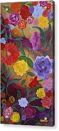 Banner Blossoms Acrylic Print by Sabra Chili