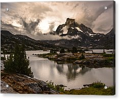 Banner Peak In A Clearing Storm Acrylic Print