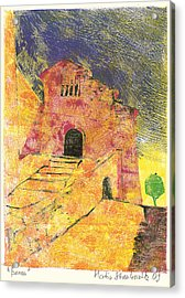 Acrylic Print featuring the painting Banon Village In Provence by Martin Stankewitz