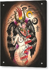 Baphomet Acrylic Print by Kate Collins
