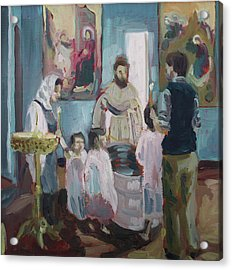 Baptism Acrylic Print by Laura Wilson