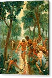 Baptism Of Christ Acrylic Print by Paul Rhoads