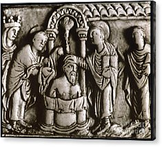 Baptism Of Clovis I, 496 A.d Acrylic Print by Granger